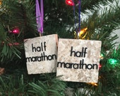 Half Marathon 13.1 Runner Tile Ornament