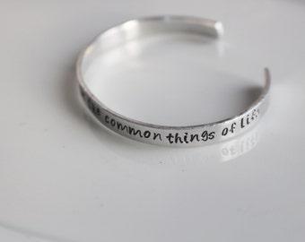 Alpha Chi Omega Symphony bracelet / Hand Stamped Aluminium Bracelet with AXO Symphony Lines / Sorority Bracelet Greek Licensed