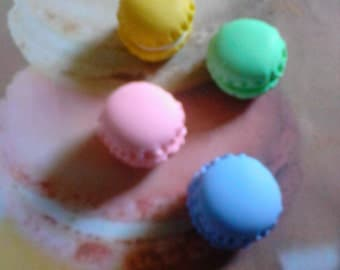 kawaii mini macaron cabochons deco decoden charms 4 pcs---USA seller