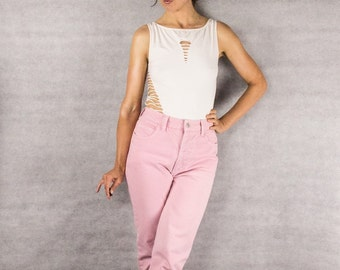 80s Pink GUESS Skinny Jeans/// Size 30