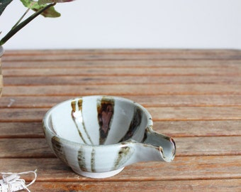 vintage studio pottery sauce dish