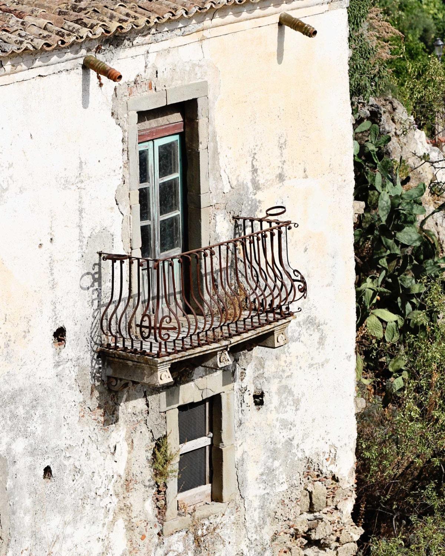 Sicily Italy Photography Balcony Print Rustic Italian