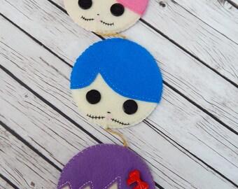 Button Eye Doll Hang Wall Door Decor