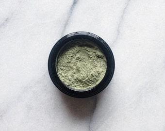 jasmine green tea masque - green clay, seaweed, matcha, spirulina, jasmine