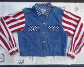 uncle sam patriotic denim jacket