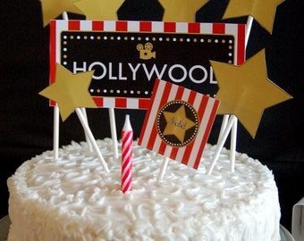 Hollywood Party Printable and Personalized Collection by Fara Party Design