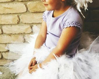 Duck White Feather Tutu