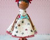 Tia Miniature Wooden Clothespin Doll