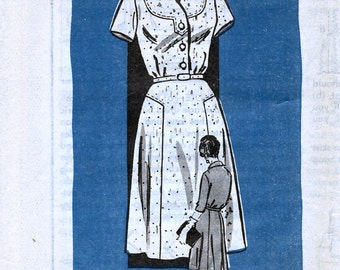 Mail Order Anne Adams 4803 Vintage 60s Misses' Dress Sewing Pattern - Uncut - Size 20.5 - Bust 41