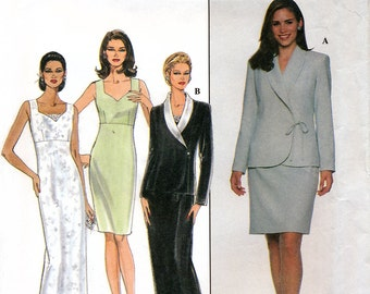 Simplicity 7932 Sewing Pattern for Misses' Dress and Jacket - Uncut - Size 16, 18, 20