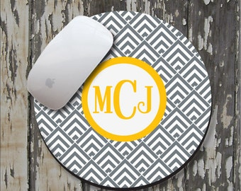 GEOMETRIC FUN Personalized Mouse Pad, Personalized Mousepad, Monogrammed Mouse Pad, Monogrammed Mousepad, Custom Mouse Pad, Custom Mousepad