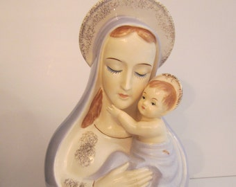 Madonna and Child Planter - Hand Painted Vintage Artmark Decor