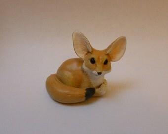 Fennec Fox Ornament Fox Sculpture Polymer Clay Figurine Fennec Fox Animal Model