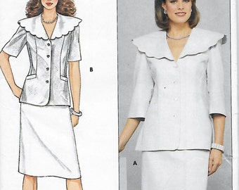 Butterick 4893 Janet Russo Misses 70s Hip Jacket & Straight Skirt Sewing Pattern Size 12 Bust 34