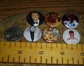DAVID BOWIE 6 one inch pin back buttons badge set
