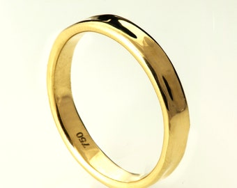 Simple Gold Wedding Band - 14k Gold Ring , Unisex Ring , Wedding Ring , Wedding Band, men's wedding band, mens ring
