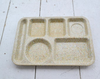 1950s Speckled Melamine King-Line Lunch Tray