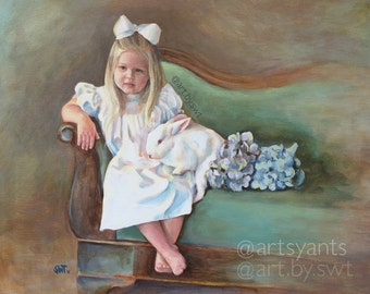 Portrait Painting - Custom Portrait - hand painted from your photo - 9x12 or 16x20 canvas