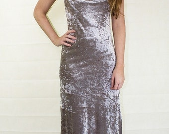 Original 1970's Vintage Biba Crushed Velvet Dress UK Size 10/12
