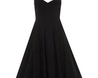 Brand New Stunning Deluxe 50s Style Teal Luna Taffeta Party Swing Dress Rockabilly