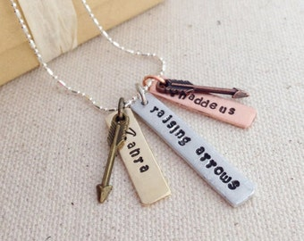 Raising Arrows Personalized Mother's Necklace Psalm 127