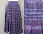 Pendleton Purple Plaid Pleated Vintage Skirt