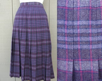 Pendleton Purple Plaid Pleated Vintage Skirt