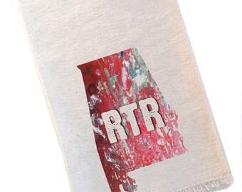 Alabama Tea Towel, RTR Roll Tide Roll Crimson Tide Football