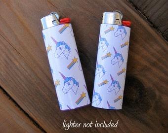 Unicorn Stickers Vinyl Waterproof Sticker for Lighter, wrap, skin, cover, smoke weed, pot, bic, 420