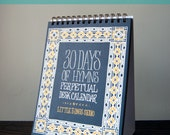 Set of 4 - 30 Days of Hymns Perpetual Desk Calendar