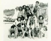 "Julianne Photo ""Spring Break Shenanigans"" Beach Girl Snapshot Antique Photo Black & White Photograph Found Paper Ephemera Vernacular - 47"
