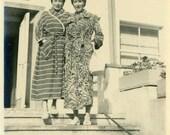 "Vintage Photo ""Fancy Robes"" Snapshot Photo Old Antique Photo Black & White Photograph Found Paper Ephemera Vernacular - 152"