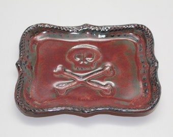 Pirate Plate or Catch-all Tray, Soap Dish