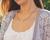 Rosary Style Necklace, Hamsa Necklace, Labradorite Necklace, Bead Necklace, Hamsa Bracelet, Rosary Bead Necklace, Vermeil, Layering Necklace