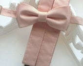 Blush Bow Tie, Suspenders, or Set for Adults & Children, Pale Blush, Made in the USA, use code TENOFF5 at checkout for 10% off 5 or more