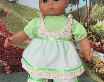 15 inch Doll Clothes, T shirt,  Ruffled Top and Pants, Baby Doll Clothes