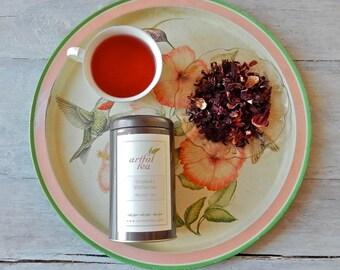 Organic Hibiscus Flowers Herbal Tea • 2 oz. Tin • Luxury Loose Leaf Herbal Infusion • Caffeine Free