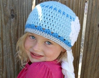 Ice Queen Crochet Hat -- Made to Order