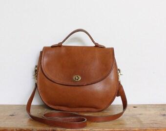 Vintage Coach Purse // Coach Plaza Bag British Tan // Coach Crossbody Bag Handbag