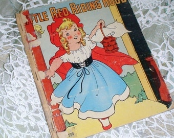 1938 Edition Little Red Riding Hood...Who's Afraid of the Big Bad Wolf--Treasury Item