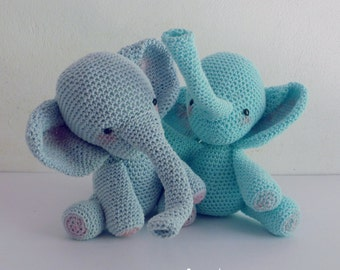 Amigurumi Crochet Pattern PDF - elephant amigurumi Toy elephants crochet pattern - Instant DOWNLOAD