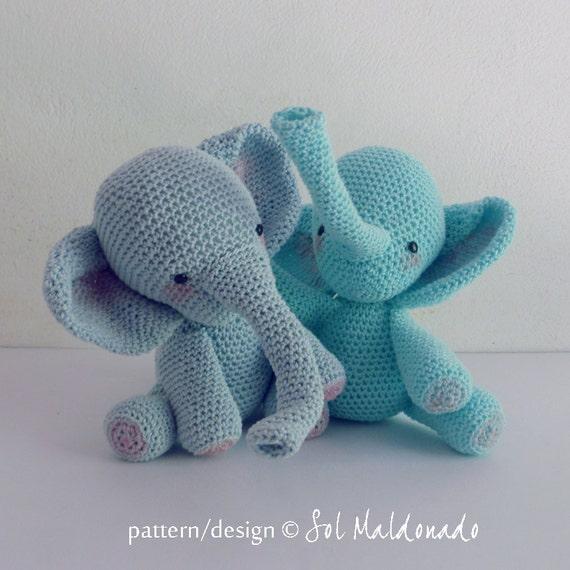 Amigurumi Toys Pattern : Amigurumi Crochet Pattern PDF elephant amigurumi Toy