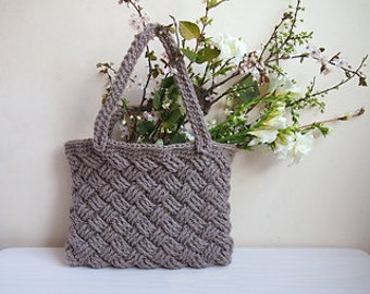 Crochet PATTERN market bag, shopping, basket wave bag, beach tote, summer tote, yoga bag, reusable, DIY photo tutorial