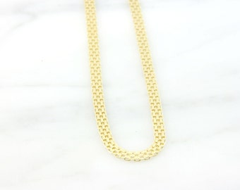 Vintage 14k Yellow Gold Mesh Chain Necklace