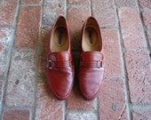 Vintage Mens 11 Santoni Italian Leather Shoes Slip On Loafers Loafer Woven Dress Shoes Burgundy Wedding Suit Shoes Preppy Hipster Spring