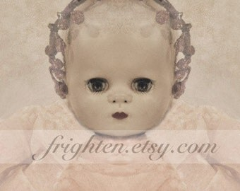 Vintage Doll Art Photography Print, Creepy Cute 8.5 x 11 Inch Wall Decor