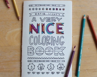 Katie Licht's A Very Nice Coloring Book