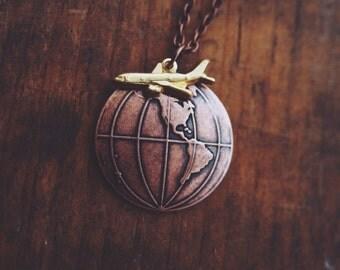 globetrotter necklace in copper