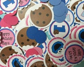 Confetti, Pink Blue, Blue Monster, Cookie, Mini Circles, Birthday, Baby Shower, Table Confetti, Cookie Monster, Monster Confetti