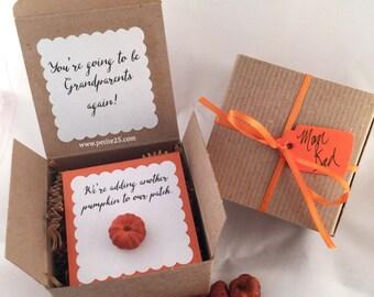Little Pumpkin Pregnancy announcement, baby announcement, new baby, adding a pumpkin to patch